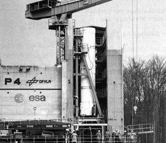 Launchpad of Ariane 4 rocket